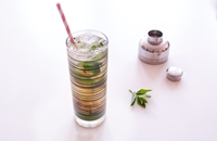 Barbecued pineapple and mint refresher