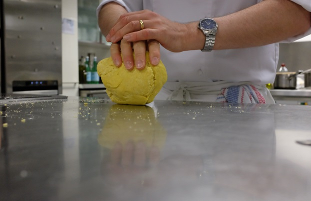 Rolling the pasta dough
