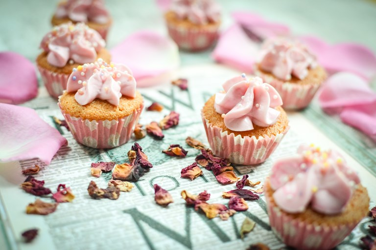 Mini Rose Cupcake Recipe