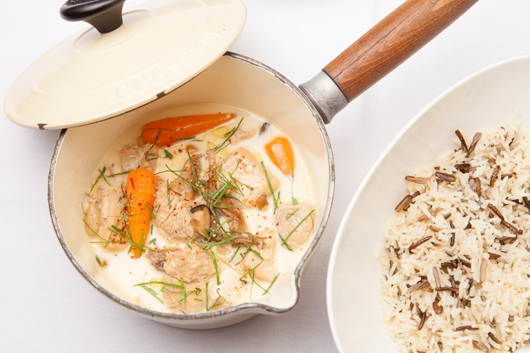 Blanquette de veau recipe with pilau rice