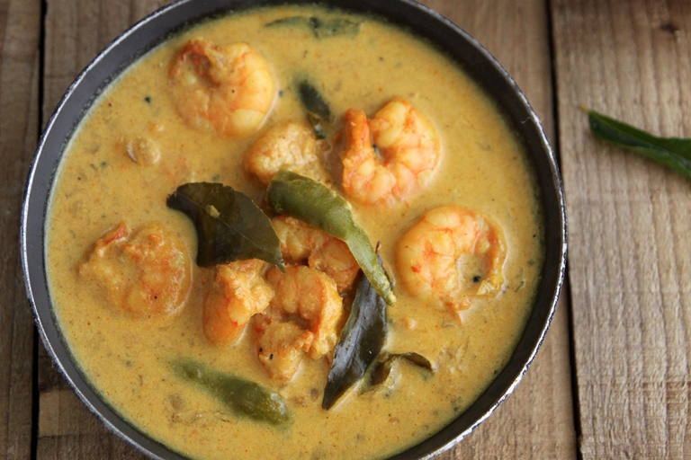 Keralan prawn curry