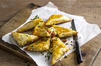Chicken, manchego and chorizo briouats