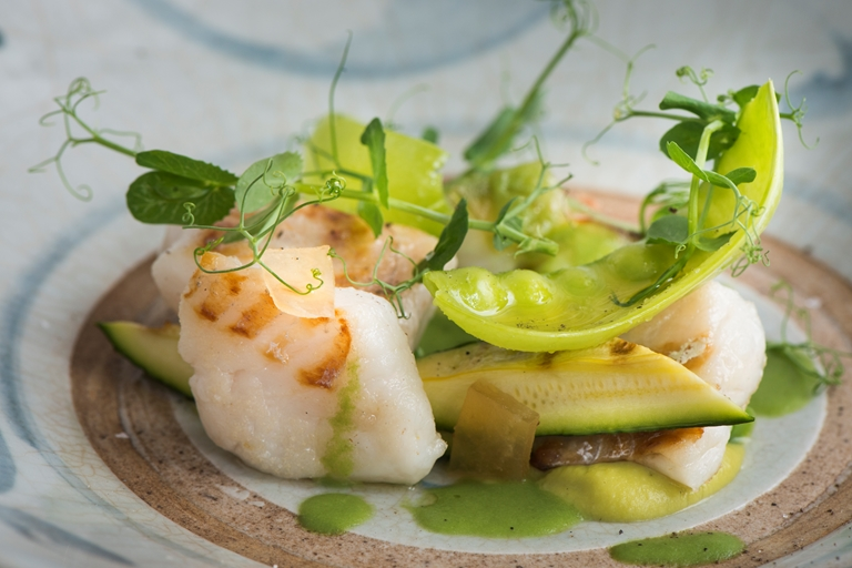 Pan Fried Cod Recipe With Broad Bean Puree Great Italian Chefs