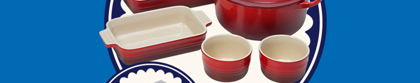 Win one of two Le Creuset cookware sets with 10 runner-up prizes of Le Cresuet Petit Casserole sets