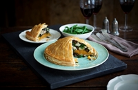 Pithivier of chicken, squash and sage