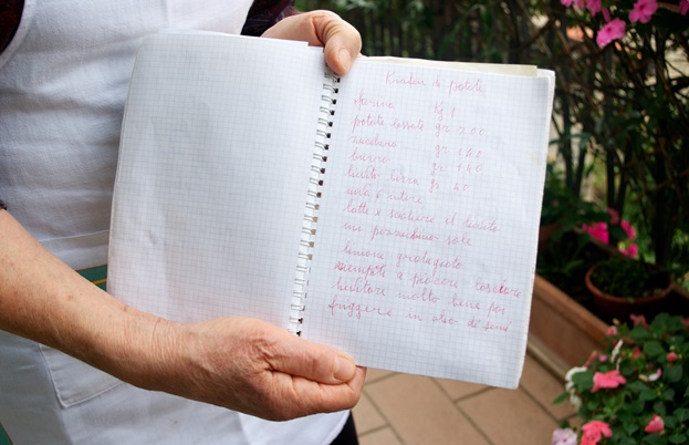 Adriana's secret recipe book