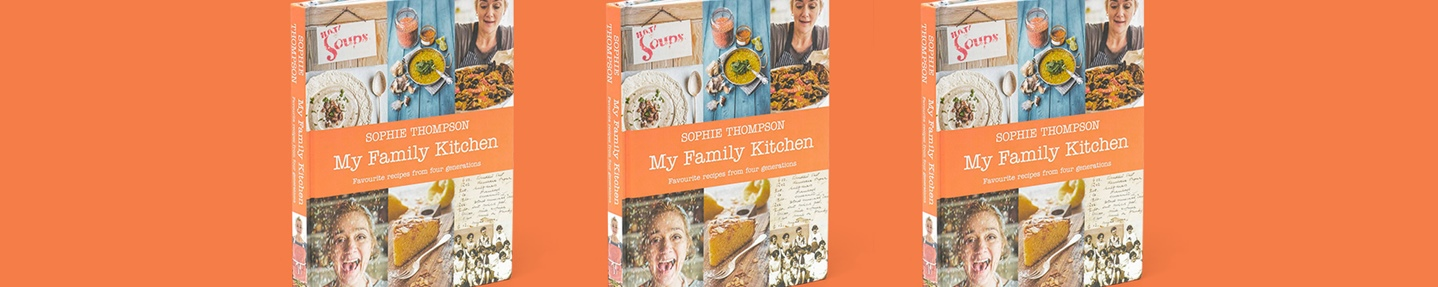 Win one of three Sophie Thompson cookbooks: My Family Kitchen