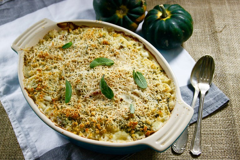 Pumpkin macaroni cheese recipe