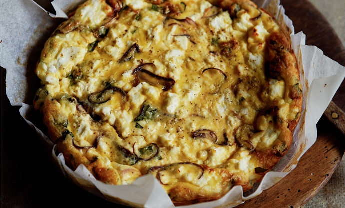 Red onion and ricotta frittata recipe