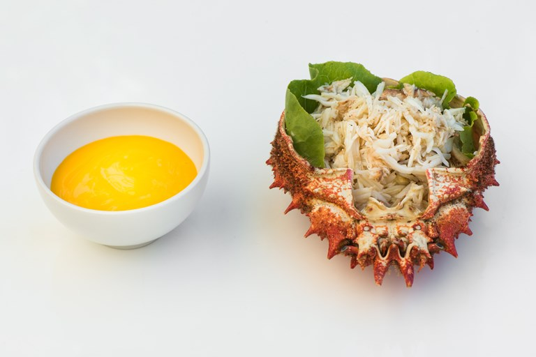 Spider crab with lemon mayonnaise