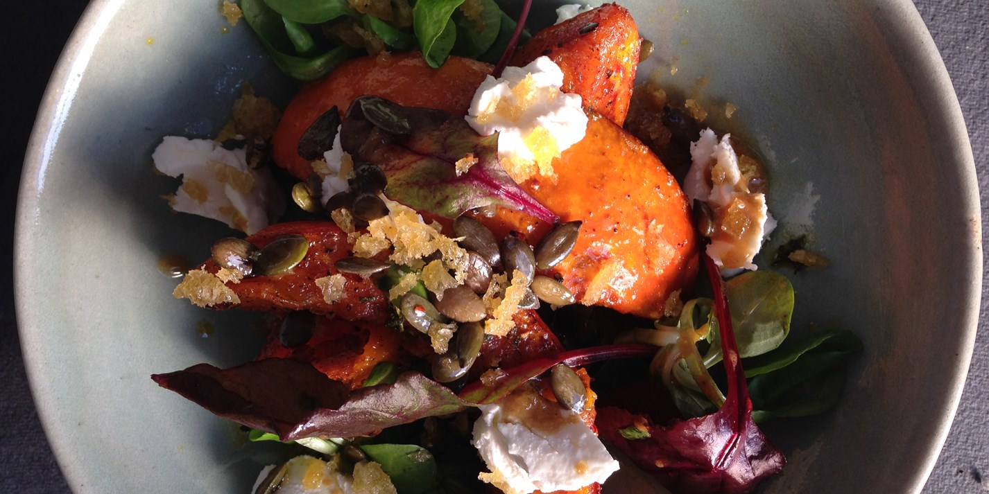 Pumpkin with Goat's Cheese and Sage Recipe - Great British Chefs