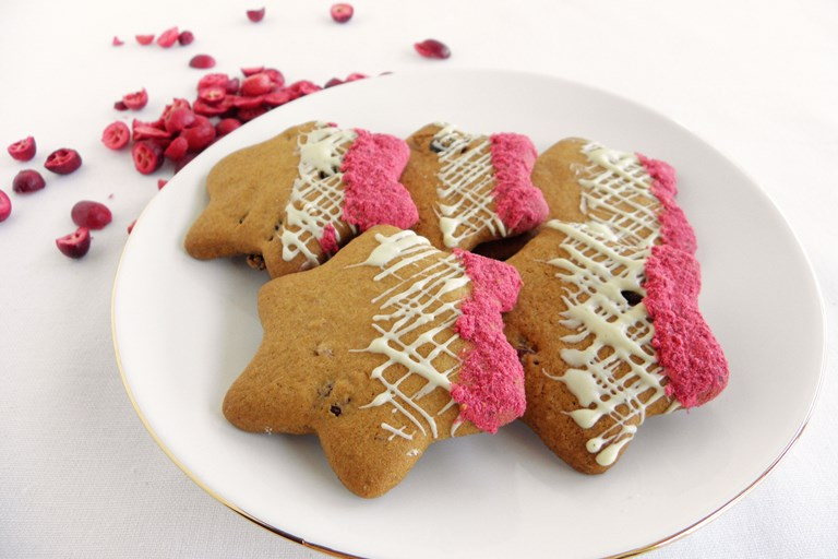 Gluten Free Cranberry And White Chocolate Star Biscuits