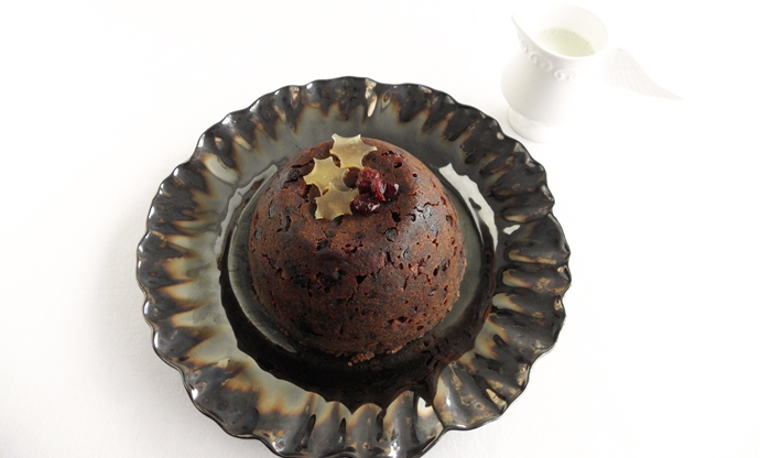Gluten free rhubarb and armagnac christmas pudding recipe