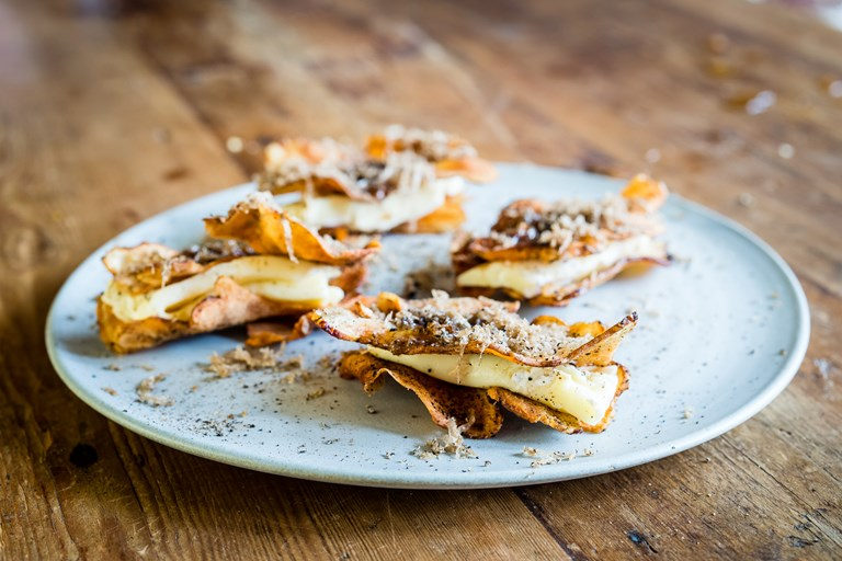 Jerusalem artichoke, truffled brie and honey recipe