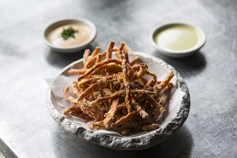 Sweet potato and soba-ko fries