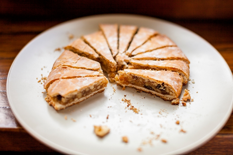 Italian Christmas Cake.Spongata Di Natale Italian Christmas Cake