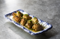 Scorched cauliflower with soy, butter and yuzu juice