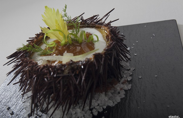 Sea urchin dish by Nacho Manzano