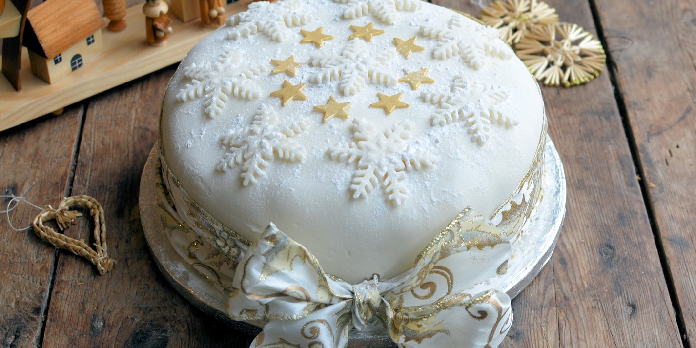 Snowflake Christmas Cake Decoration Recipe Great British