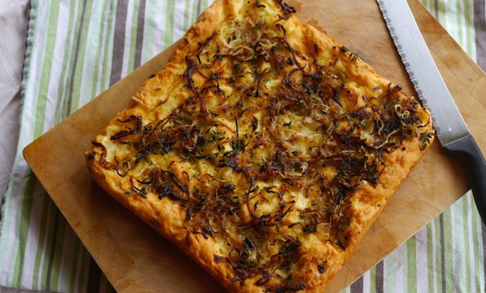 Gluten Free Onion and Thyme Focaccia recipe
