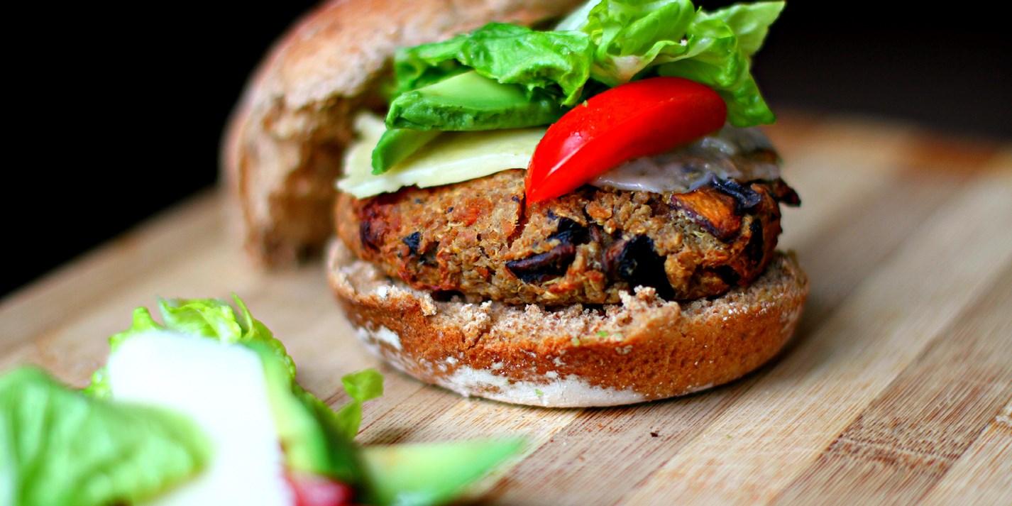 Mushroom Vegan Burger Recipe - Great British Chefs