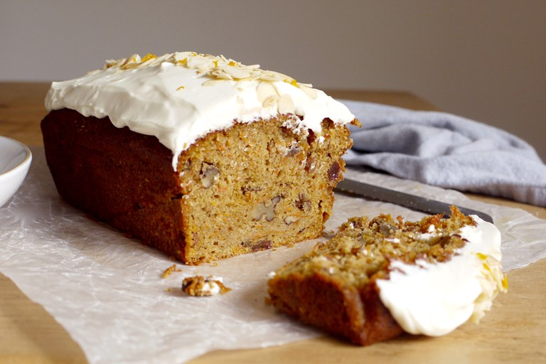 Simnel-spiced carrot cake