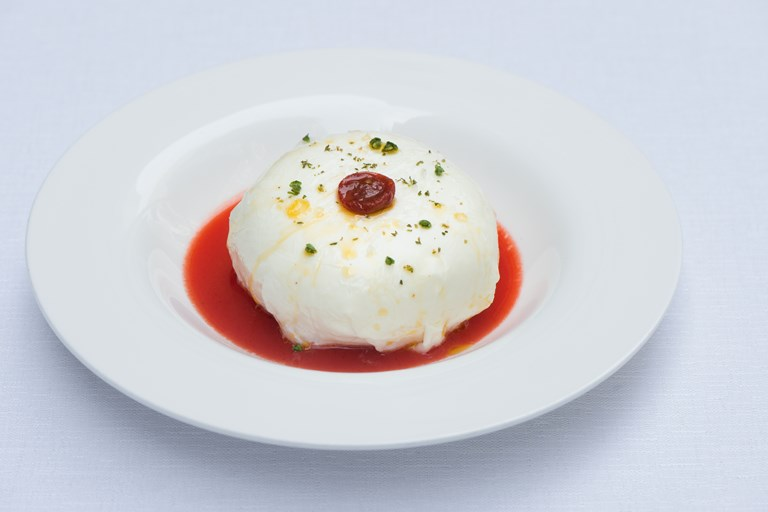 Mozzarella Foam with Tomato Recipe