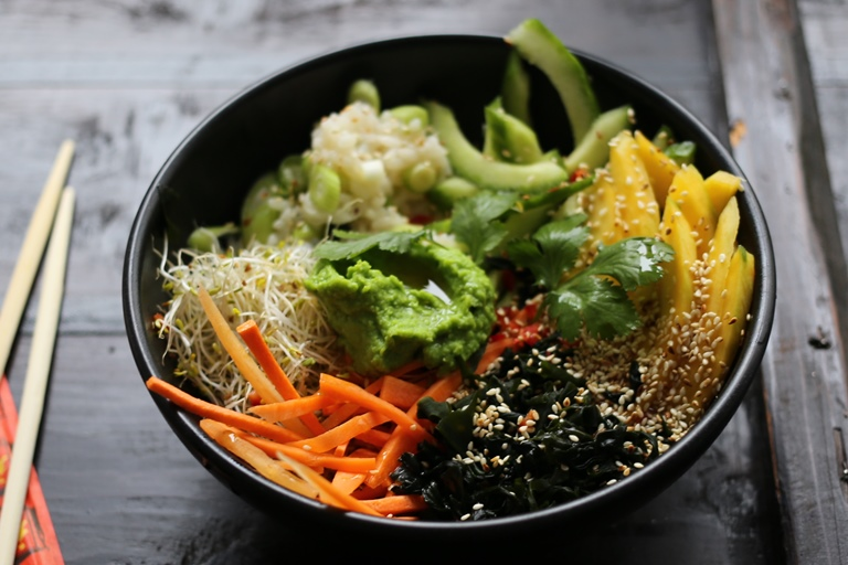 Vegetarian sushi bowl recipe