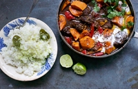 Beef Stew with Lime Rice Recipe