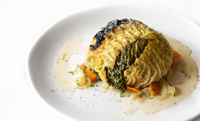 Chou farci (stuffed cabbage)