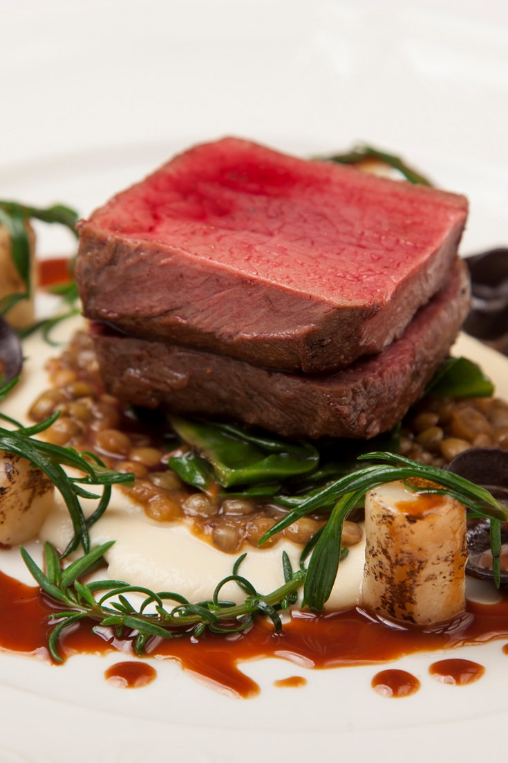 Fallow Venison Salted Baked Celeriac And Chocolate Tortellini Great British Chefs