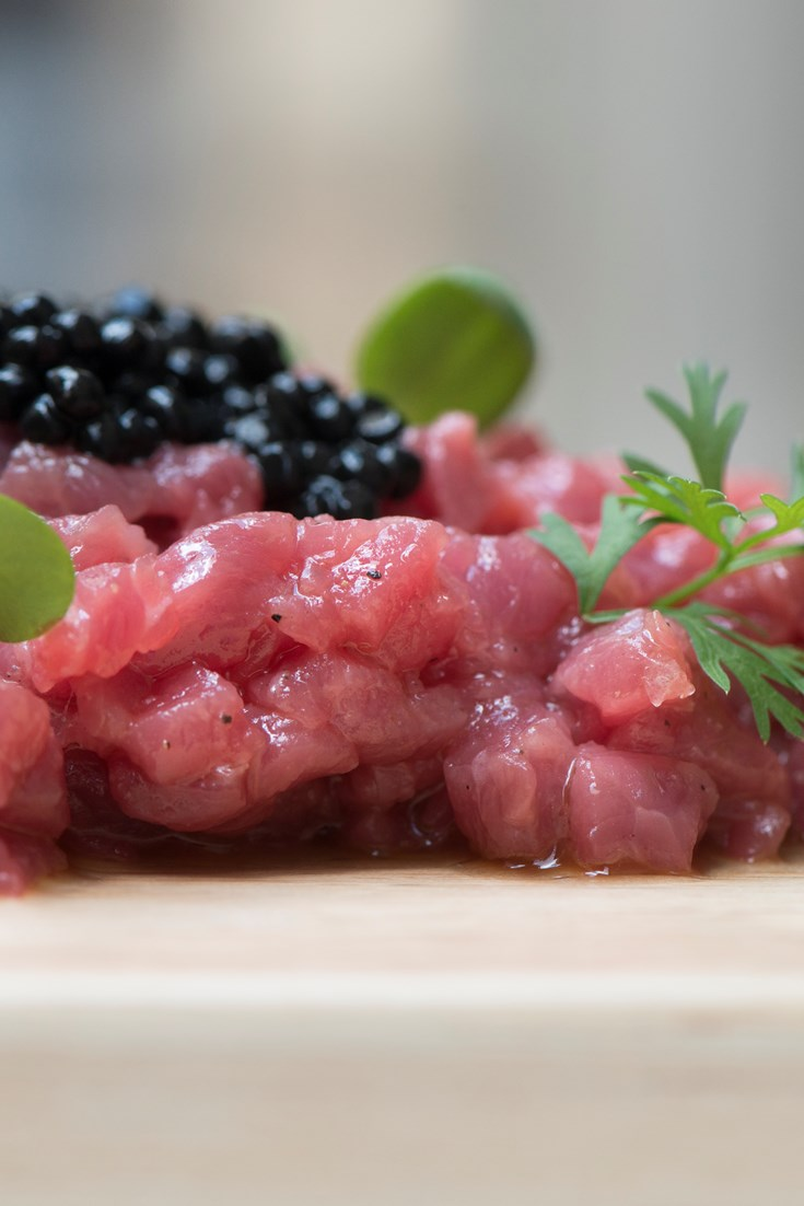Beef Tartare With Black Truffle Recipe Great Italian Chefs