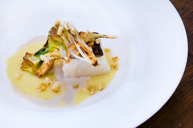 Icelandic cod recipe great italian chefs icelandic cod with roasted onion cream and artichokes forumfinder Gallery