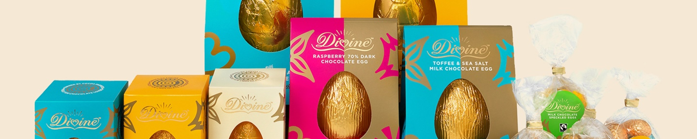 Win a selection of Divine Chocolate Easter Eggs worth over £50