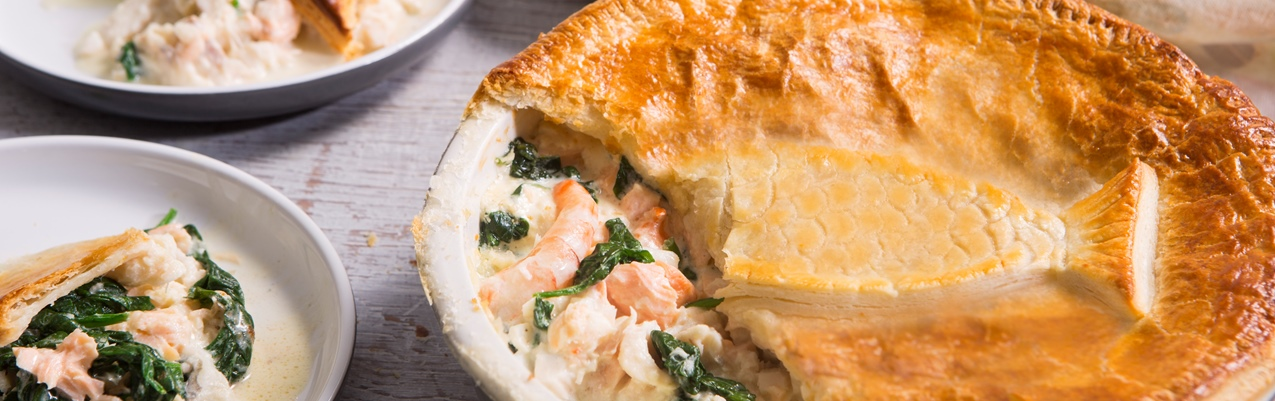 Celebration smoked fish and haddock pie
