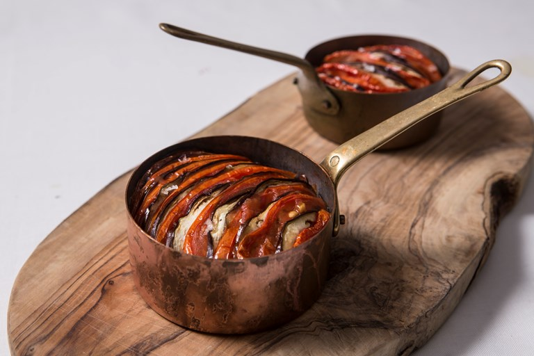 Imam biyaldi (Turkish baked tomato and aubergine)