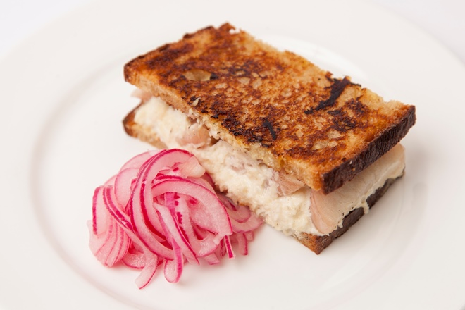 Mind to menu: Jeremy Lee's smoked eel sandwich