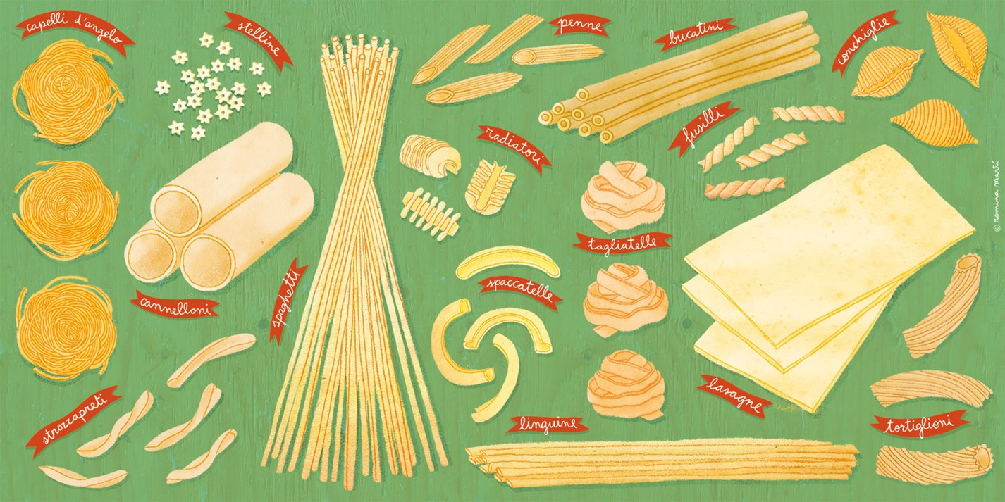 Popular pasta shapes and their stories