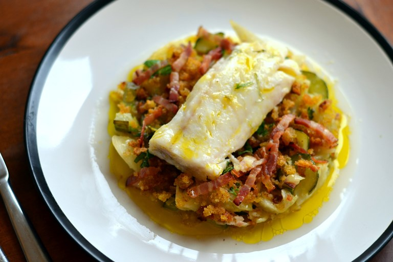 Baked Cod Loin Recipe With Braised Cucumber Great