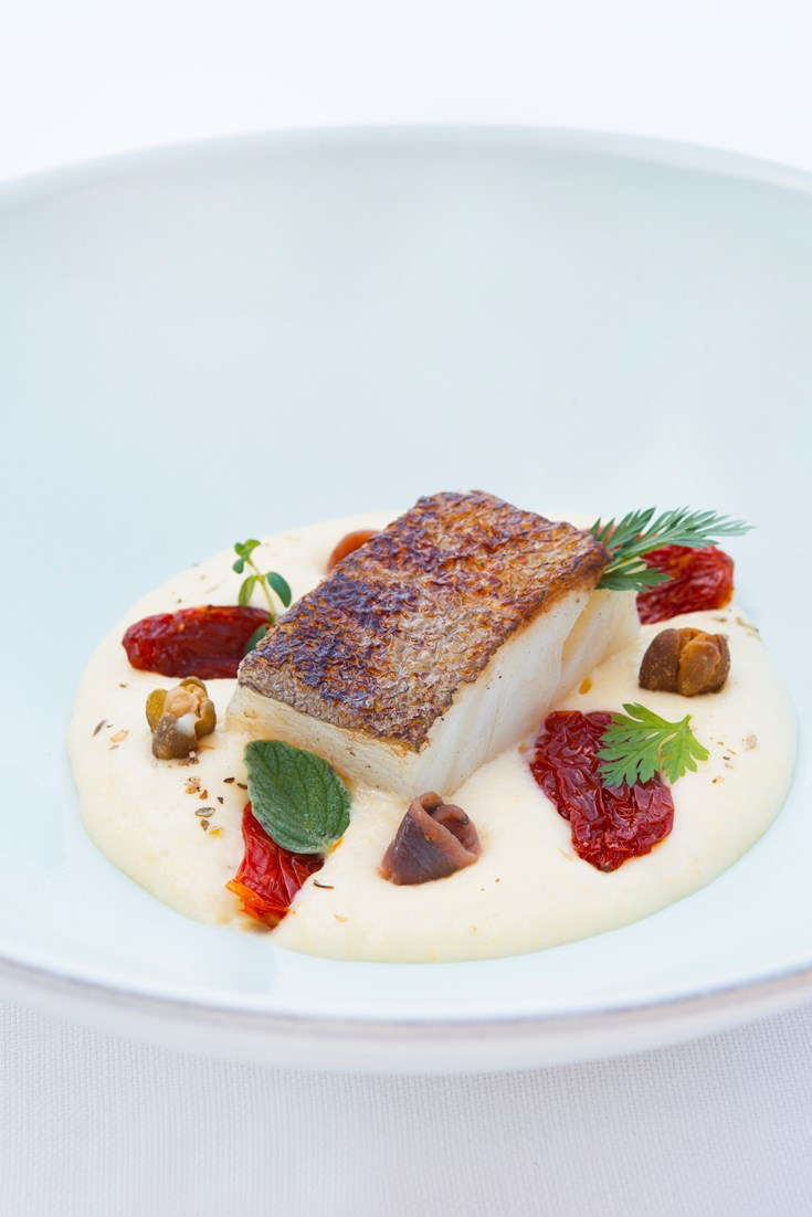 Pan Fried Cod Fillet Recipe With Polenta Mousse Great