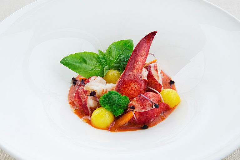 Lobster With Bisque And Broccoli Recipe Great Italian Chefs