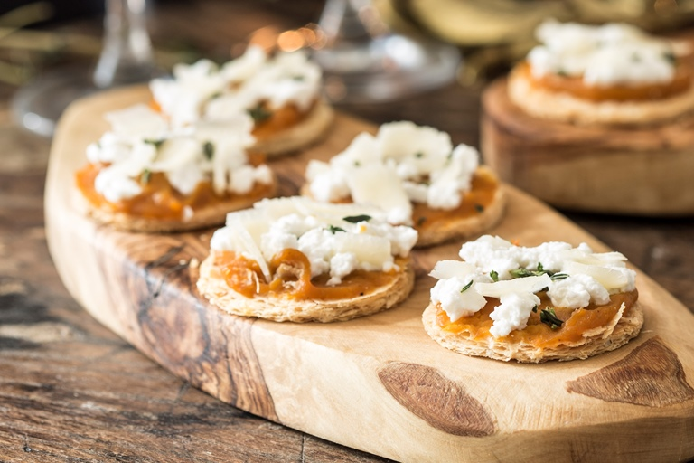 Mini pumpkin and ricotta tarts