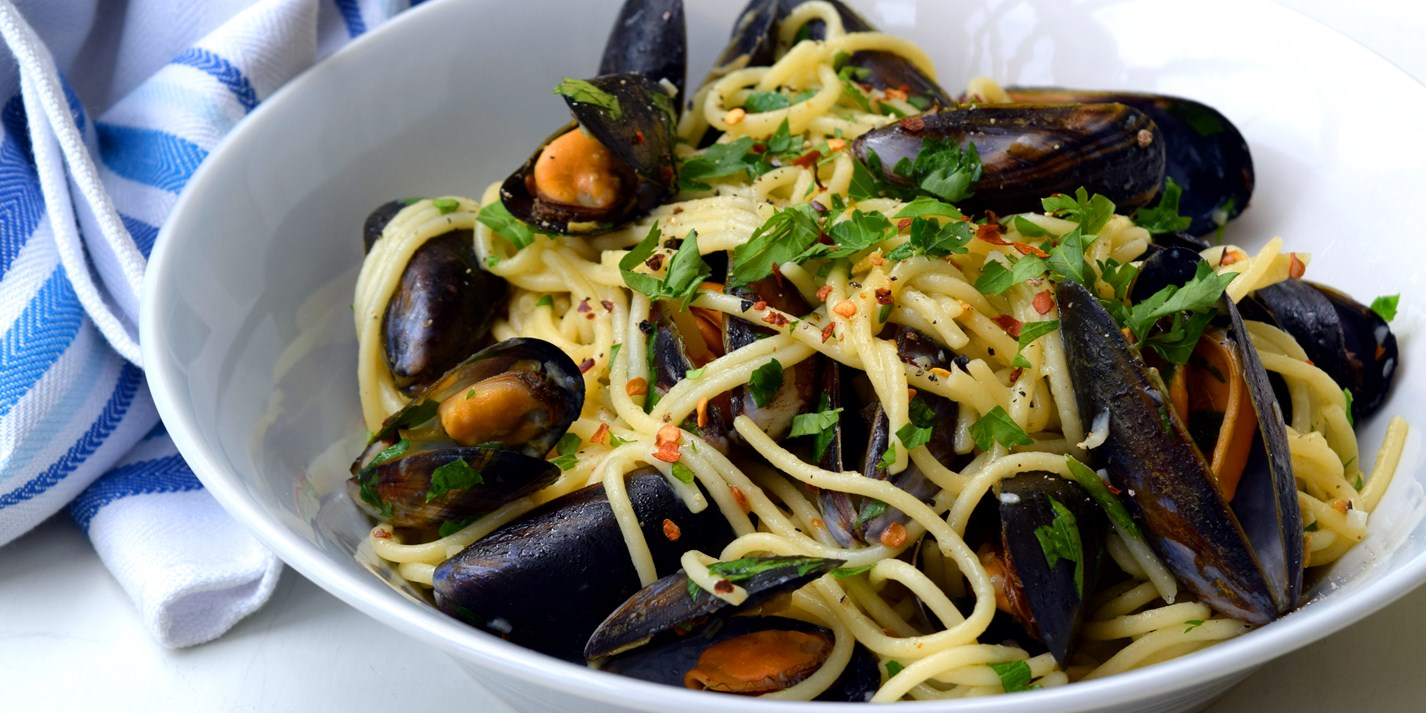 Spaghetti With Mussels Recipe Great British Chefs