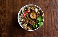 Beef and mushroom dashi stew
