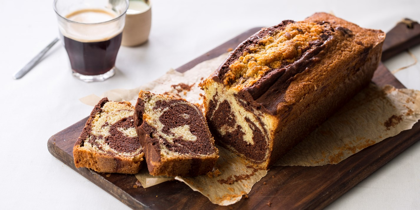 Easy Marble Pound Cake Recipe
