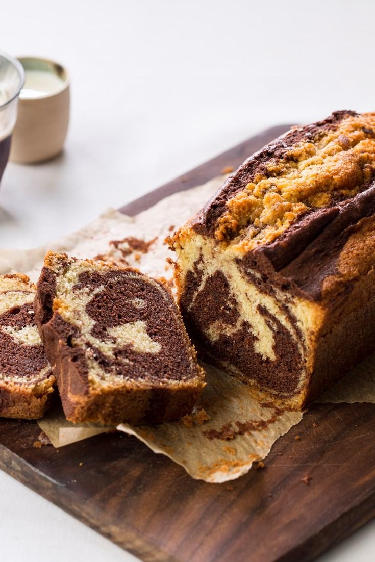 Chocolate Amp Vanilla Marble Cake Recipe Great British Chefs