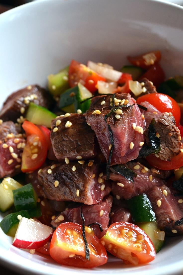 Seared Beef Poke Recipe Great British Chefs
