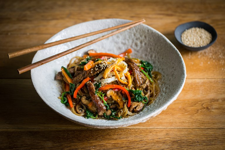 Japchae Korean Noodles