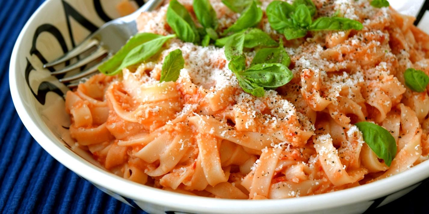 Tagliatelle with Fresh Tomato Sauce Recipe - Great British Chefs