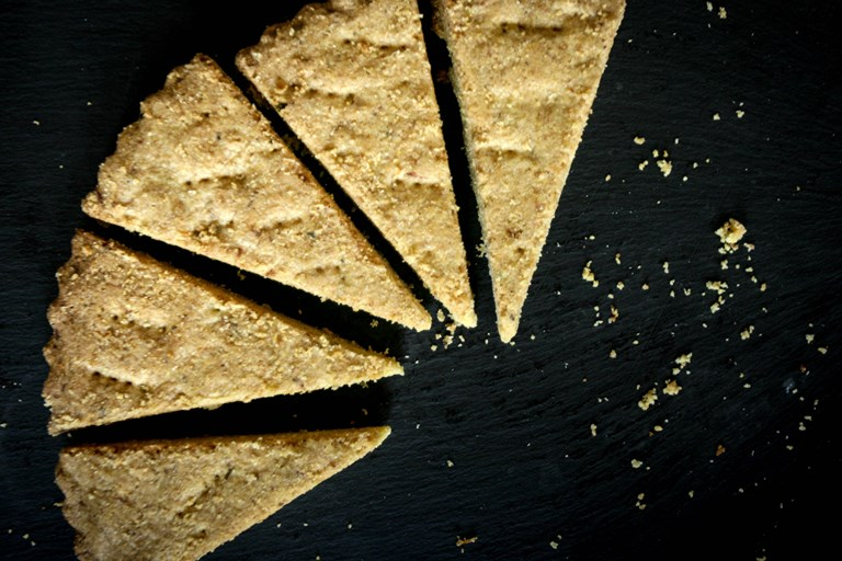 Vegan rosemary and lemon shortbread